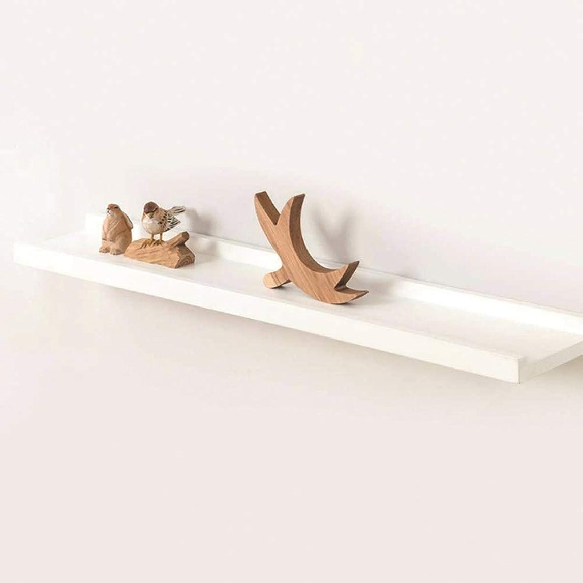 毒液不格好酸化物YQQ フローティング棚白い素朴な木製の壁隠しブラケット壁掛け棚オーガナイザー本棚収納画像棚棚 (サイズ さいず : 300mm)