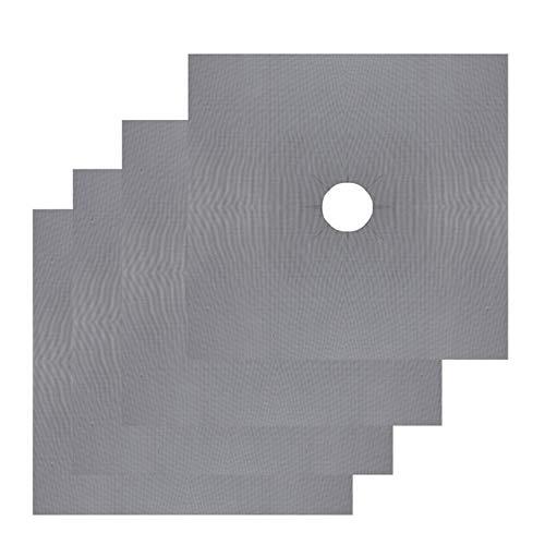 DFYYQ Estufa 4pcs Reutilizable del Papel de Aluminio del mechero de Gas Protector de la Cubierta del trazador de líneas Clean Mat Pad for Herramientas de Limpieza de Cocina Mantel Estera de Tabla