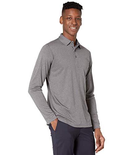 Callaway Swing-Tech Essential Herren-Golf-Poloshirt mit Langen Ärmeln, Herren, Polohemd, Swing Tech™ Essential Long Sleeve Golf Polo Shirt, Leiser Lampenschirm in Heather, XX-Large