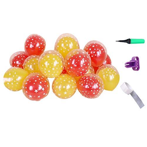 N / A 20 Stücke Von 12-Zoll-Partei Luftballons, Double-Layer-Sterne-partydekorationen Bogen Dekor Luftballons Multicolor Feiertagsdekoration Parteien Liefern Luftballons mit Pumpe Knüpfer