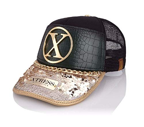 Gorra fashion de color negro y lentejuelas. Unisex