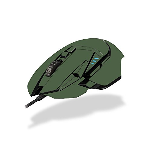 MightySkins Skin Compatible with Logitech G502 Proteus Spectrum Gaming Mouse - Solid Olive | Protective, Durable, and Unique Vinyl wrap Cover | Easy to Apply, Remove | Made in The USA