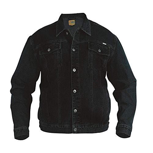 Duke KS1304 Denim Jeans-Jacke schwarz in Übergrößen: Farbe: schwarz | Größe: 64-5XL