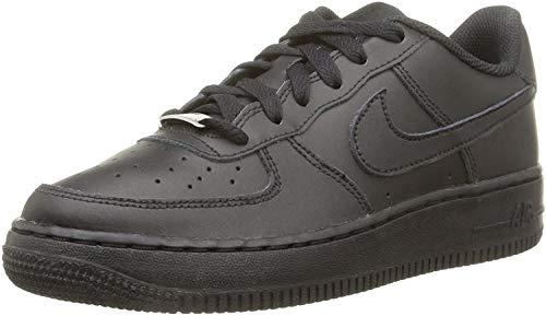 Nike Force 1 (Ps) Basketballschuhe, Negro Black Black Black, 35 EU