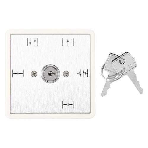 Regalo de verano Selección Interruptor de Llave de Encendido y Apagado de Cinco Posiciones, fácil de Instalar Control automático de Acceso a la Puerta con Llave de 5 Posiciones, Puertas corredizas de