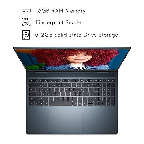 Dell Inspiron 16 7610, 16 inch 16:10 3K Non-Touch Laptop - Intel Core i7-11800H, 16GB DDR4 RAM, 512GB SSD, NVIDIA GeForce RTX 3050 4GB GDDR6, Windows 10 Home - Mist Blue (Latest Model)