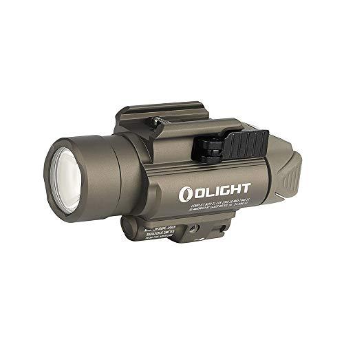 OLIGHT オーライトウェポンライト 最新版 Baldr Pro 1350ルーメン 緑色レーザーポインター付き ledライト 防水 タクティカルライト小型軽量 LED フラッシュライト 3モード サバゲー用 LEDウェポンライト (タン色)