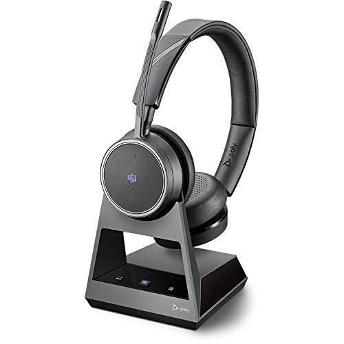 Plantronics - Cuffie stereo Bluetooth'Voyager 4220 UC' USB-A BT-Dongle, tecnologia SoundGuard, braccio microfono, tasti sul auricolare, nero, taglia unica