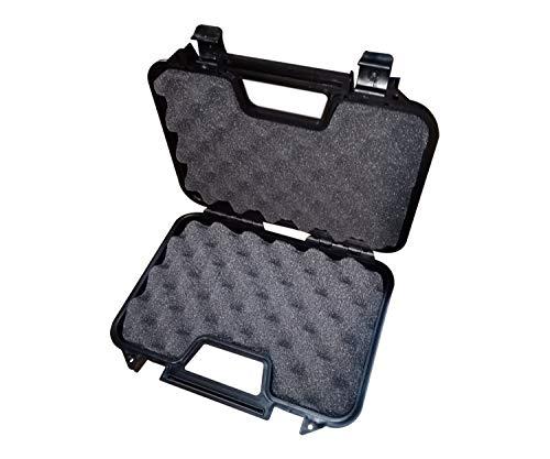 NEEZ Estuche para Rifle, Pistola, Protector táctico, Estuche rígido Compacto para llevarlo al Aire Libre de protección Acolchado (Caja Negra de 31 cm)