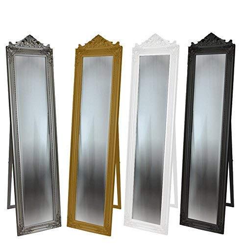 DRULINE Standspiegel Crown Barock 45 x 170 x 3 cm Weiß mit Krone