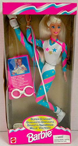 Super Gymnast Barbie Doll w Tumbling Ring (1995)