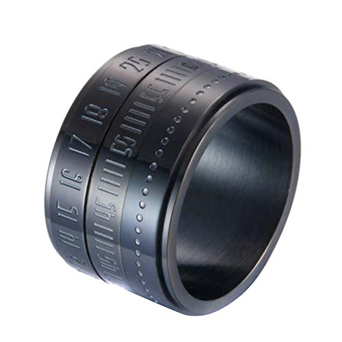 Dušial Retro Wide Rotatable Number Clock Time Best Original Color Steel Band Ring Circle