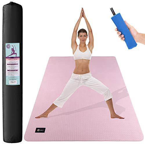 CAMBIVO Yogamatte, Gymnastikmatte extra lang breit(183cm x 122cm x 6mm), rutschfeste TPE Fitnessmatte Sportmatte für Gym, Yoga, Pilates, Workout, Zuhause