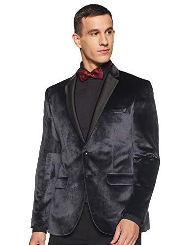 Park Avenue Men's Notch Lapel Slim fit Blazer (PMJP02423-G4_Medium Grey_104)