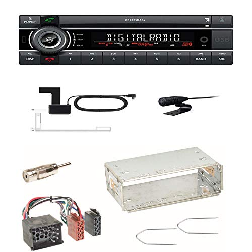 Kienzle CR 1225 DAB+ USB CD Digitalradio Bluetooth MP3 AUX 1-DIN Autoradio RDS Einbauset für BMW 3er E36 Z3