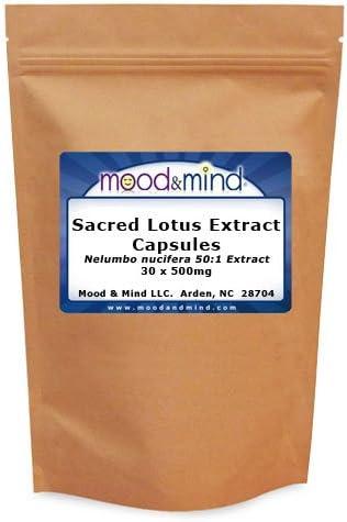 Sacred Lotus 50:1 Extract Capsules Ultra-Cheap Max 46% OFF Deals 30 nucifera 500mg Nelumbo