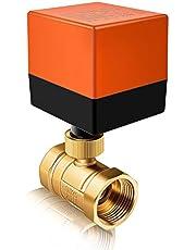 Miafamily Elektrische afsluiter met omschakeling, kogelventiel, messing afsluitkraan, 2-wegs, DN25 G1 inch, AC 230 V, voor stroomregeling, zoneventiel, kogelventiel