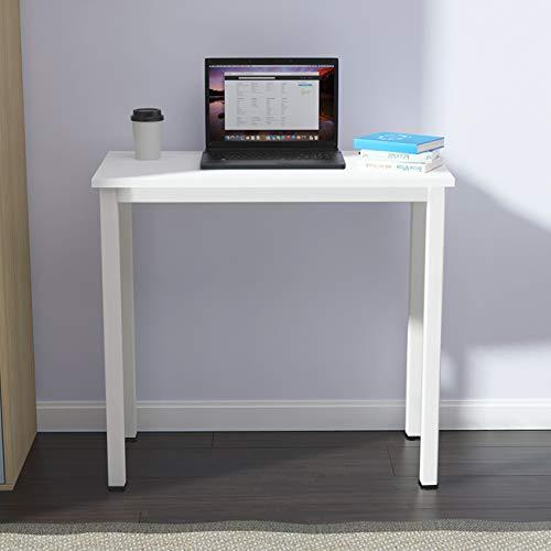 SogesHome Escritorio pequeño para ordenador de 80 x 40 cm, mesa compacta de ordenador, escritorio de oficina, escritorio de esquina, para casa, oficina, pequeña mesa, color blanco AC3DW-8040-SH