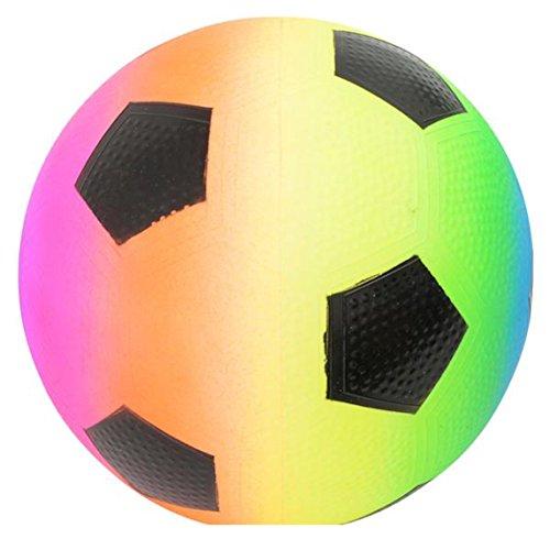 Rhode Island Novelty Rainbow Regulation Soccer Ball Design Playground Latex Inflatable Kickball (1)