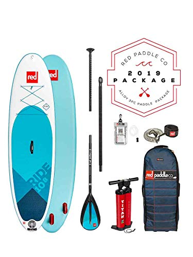 Red Paddle Co SUP Stand Up Paddle Boarding - Ride 10';8 Aufblasbares Stand Up Paddle Board + Tasche, Pumpe, Paddel & Leine/Gurt