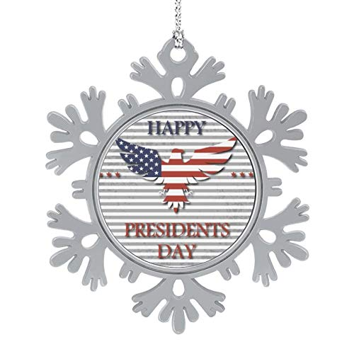 HYTRG Presidents Day Background with Eagle Xmas Trees Snowflake Ornaments Colorful Christmas Photo Accessories Collectible