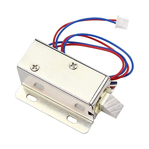 Hdliang Cerraduras de Gabinete DC12V Cerradura Eléctrica para cajón Cerradura de Seguridad con Solenoide Mini Cerradura Electromagnética