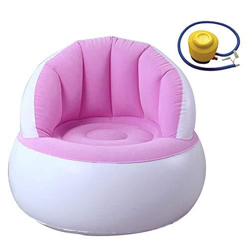 Meetforyou Sofas Stuhl, aufblasbares Kindersofa mit Rückenlehne Niedliche Beflockung Bunte Klappsofa Aufblasbarer Sofastuhl, aufblasbares Kindersofa