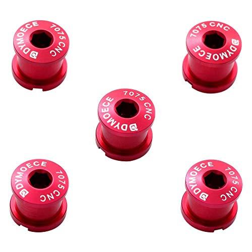 Dymoece Aluminumlegierung Doppetel Kettenblattschrauben für MTB-Rennräder und Straßenfahrräder M8 Kurbelgarnitur