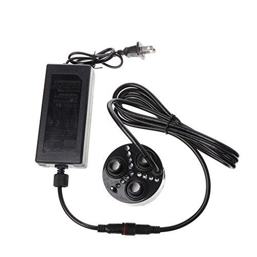 JHD Boquilla de Goteo, 3 Head Mist Maker Atomizador Humidificador de Aire ultrasónico Nebulizador de nebulizador Enchufe de EE. UU.