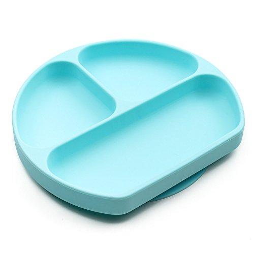 bumkins バンキンス bumkins バンキンス ピタッと吸着! ひっくり返らない吸盤付きシリコンディッシュ 6ヵ月 ブルー GD-BLU