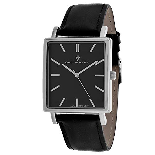 Christian Van Sant Ace CV0431 - Reloj casual para hombre, acero inoxidable, cuarzo, color negro