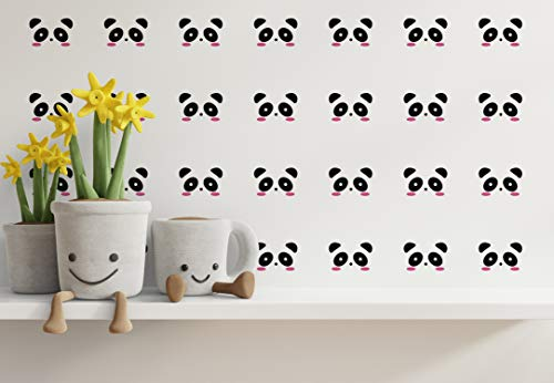 Tierno Panda Deco Wall Decor Stickers Pattern Art Decals 90 Pcs 3x3 KA57