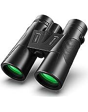 Prismaticos, Prismaticos Profesionales 12x42 Binoculares de Largo Alcance para Caza Observación de Aves Pasear Teatro Vela