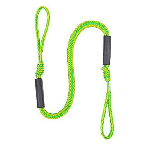 Cuerda elástica de amarre de kayak de 1,2-1,6 m, cuerda de línea de muelle elástica de anclaje, para barco, acampada, senderismo, toldo, toldo para tienda