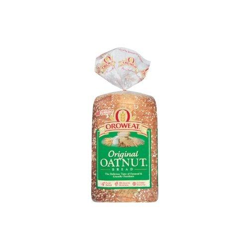 Oroweat Sliced Bread 24oz Loaf (Pack of 2) Choose Flavor Below (Whole Grains - Oatnut) by Oroweat