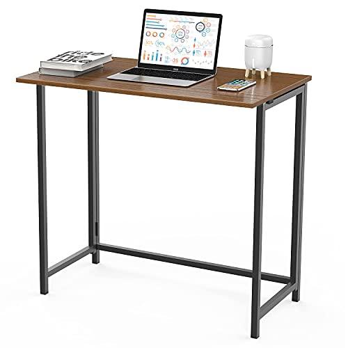 Bigzzia Mesa Escritorio,Mesa Plegable para el Ordenador,No Es Necesario Instalar,Escritorio de Estilo Industrial...