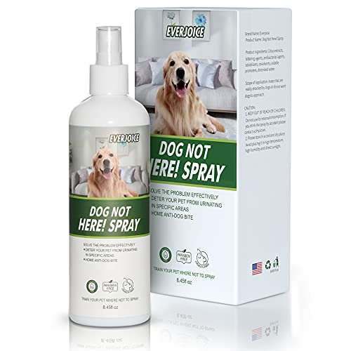 EverJoice Dog Not Here Spray, Training Your Dog Where Not to Urinate, Repellent & Training Corrector Pets Chew Deterrent, Indoor & Outdoor Use, No...