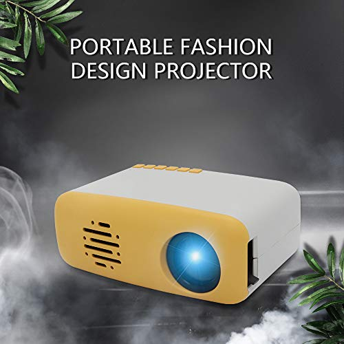 Mini Video Movie Projector,iRULU Portable Home Theater Palm Size Projector with HDMI AV Headphone for Kids Children Education (Yellow, Siz2)