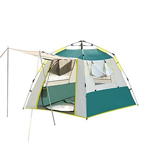 XinBao Carpa Al Aire Libre a Prueba de Lluvia Y Sombra 3-4 Personas Camping Al Aire Libre Carpa Automática Parque Carpa de Ocio Verde