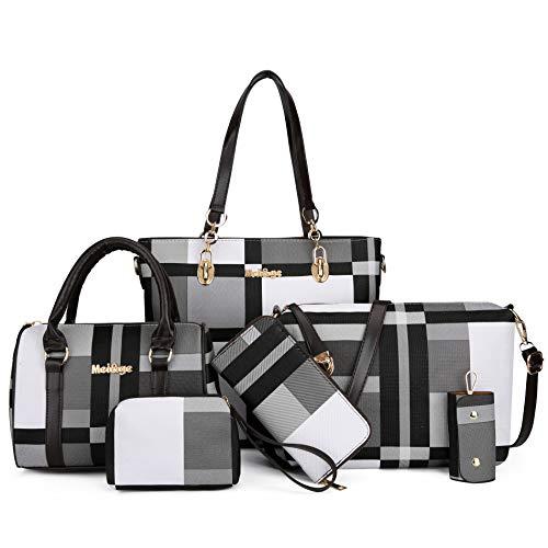 2E-youth Designer Purses And Handbags For Women Satchel Shoulder Bag Tote Bag For Work Clutch Purses (gezi6-black)