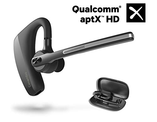 Bluetooth Headset 5.0, aptX HD 16 Hrs Talktime Bluetooth Earpiece, Noise Cancelling Mute Key Wireless Earphones for Cell Phones Business Trucker Office