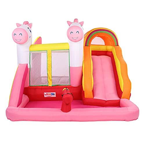 QLANG AIR Bounce House, Inflatable Bouncer with Air Blower Jumping Castle with Slide for Outdoor and...