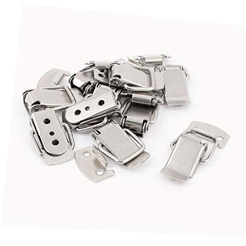 X-DREE 10 piezas de maleta con resorte de 38 x 20 x 8 mm Metal Draw Loop Latch Silver Tone (ressort valise 10 38 x 20 x 8mm Couleur Argenté Métal Tirer Loquet