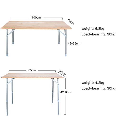 KingCamp(キングキャンプ)『竹製折りたたみテーブル(KC3928)』