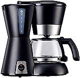 OGUAN Máquina de café, Máquina de café, filtro de café de la máquina, 0.65L Capacidad Cafetera producir hasta 6 tazas, anti-goteo del sistema, reutilizable Filtro Permanente, Negro, for el espresso co