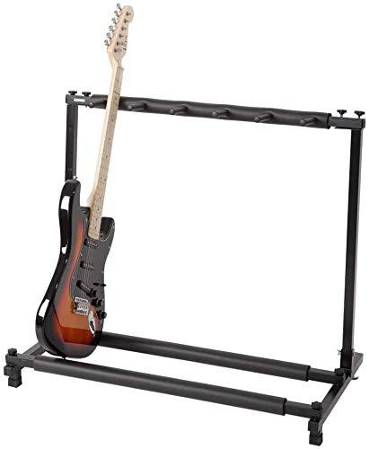 BAOJIADA ギタースタンド 5本収納【新バージョン登場】折りたたみ式 ギター・ベース用スタンド 収納 ベーススタンド 省スペース 組み立て BA-YPJ-06 (5本収納)