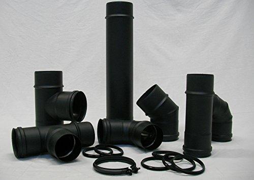 Conti - Tubo de humos negro mate D. 100 porcelánico grosor 1,2...