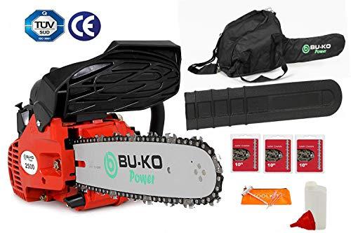 BU-KO Scie à chaîne essence 26 CC, poignée légère | 3 chaînes et...