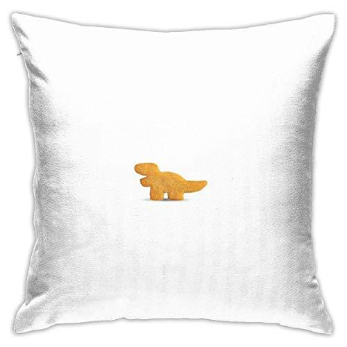 FETEAM Dino Nugget Aufkleber Quadratische Kissenbezug Throw Pillow Sofa Kissen Autokissen Dekoration