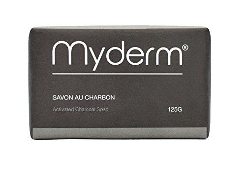 Savon au charbon activée 125 g - Activated Charcoal Soap 125g - Savon 125 g au Charbon Végétal Actif - MYDERM